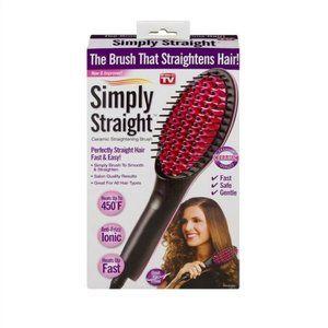 BNIB Simply Straight Ceramic Straightening Brush